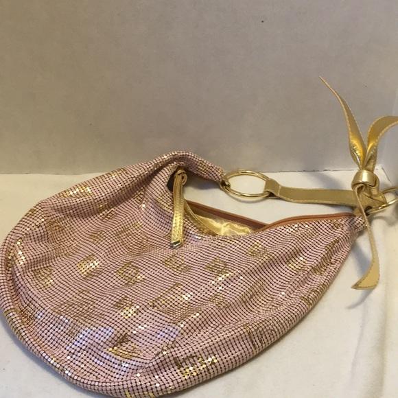 bebe Handbags - Bebe metallic bag pink and gold